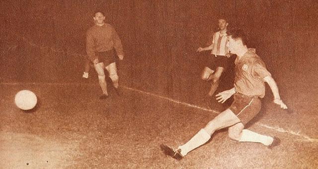 Chile y Argentina en partido amistoso, 18 de noviembre de 1959