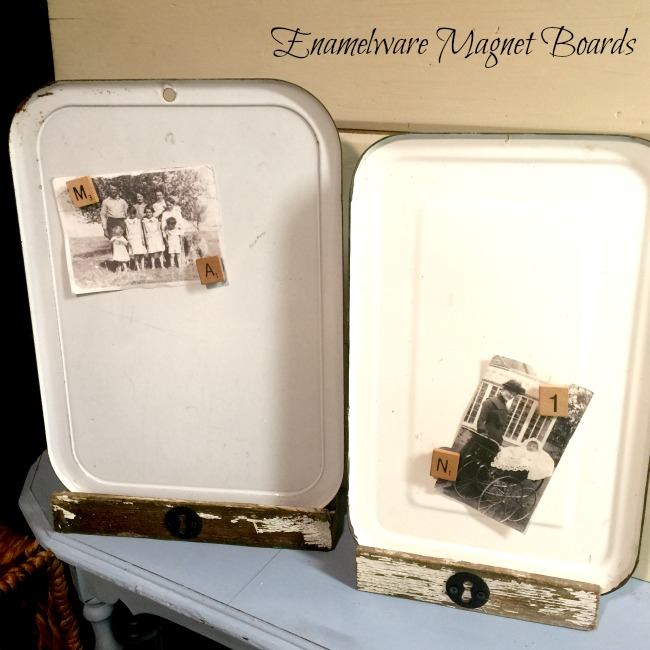 How to Create an Enamelware Magnet Board with a Chippy Easel www.homeroad.net