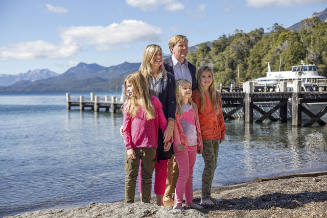 King Willem-Alexander of Netherlands and Queen Maxima of Netherlands Princesses Amelia, Alexia and Ariana