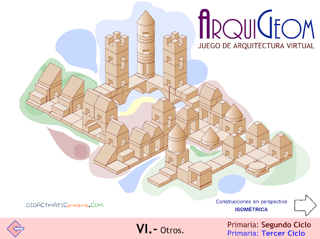 ARQUIGEOM. Juego educativo de  arquitectura virtual.