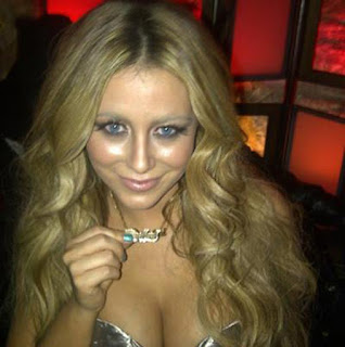Aubrey O'Day gold name necklace