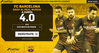 betfair supercuota victoria del Barcelona al Real Murcia 24 octubre