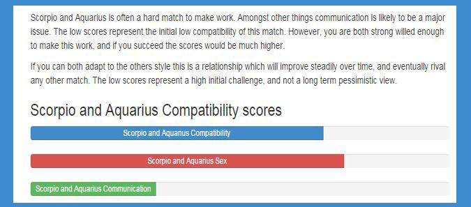 how to make an aquarius and scorpio relationship work