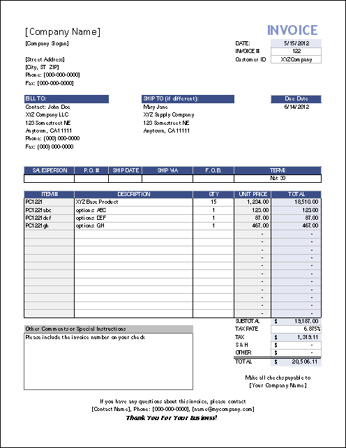download receipt template excel free | rabitah, Invoice templates