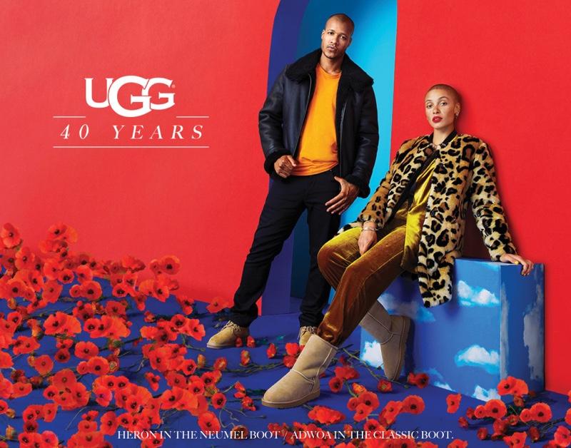 Heron Preston and Adwoa Aboah star in UGG 40th anniversary campaign