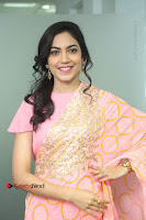 Actress Ritu Varma Pos in Beautiful Pink Anarkali Dress at at Keshava Movie Interview .COM 0044.JPG