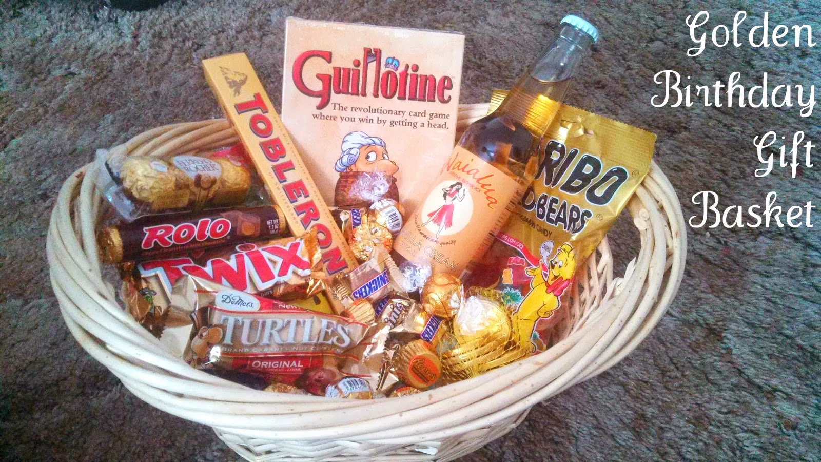 Golden Birthday Gift Basket