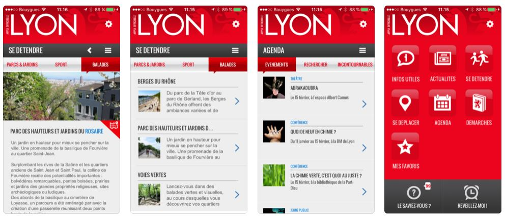 Application mobile de Lyon
