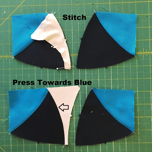 stitching and pressing seams ruler mat