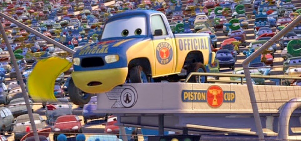 Dan the Pixar Fan: Cars: Dexter Hoover with Yellow Flag