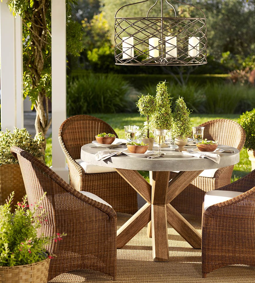 Pottery Barn Rattan Kitchen Chairs