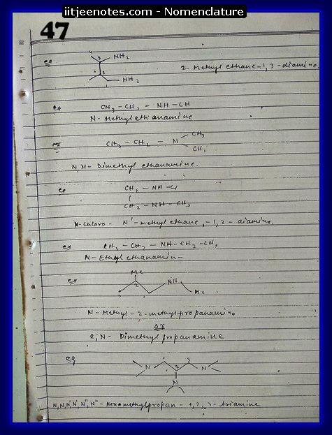 nomenclature organic4