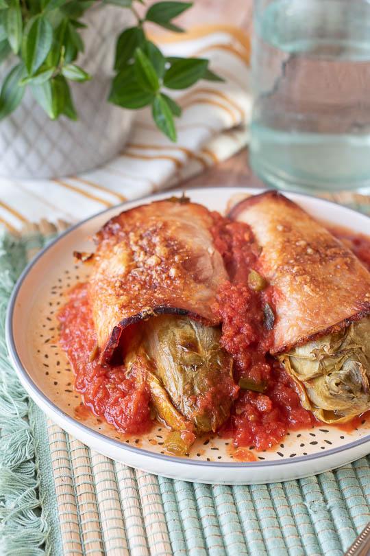 recette Endives au roti et tomates