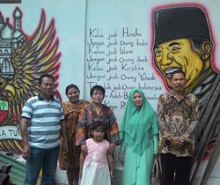 Salah satu Dinding City Walk MBK, Blitar
