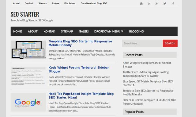 SEO Starter Mobile Friendly Responsive Blogger Templates