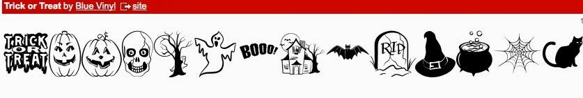Silhouette, friendly, free, halloween designs, dingbat fonts