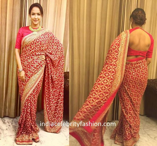 Lakshmi Manchu in Sabyasachi Saree for Sreeja's Wedding