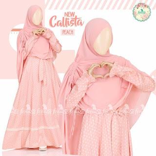 Gamis Fenuza Callista Peach