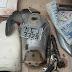 Polícia Civil de Cajazeiras encontra peças de moto dentro de mata fechada