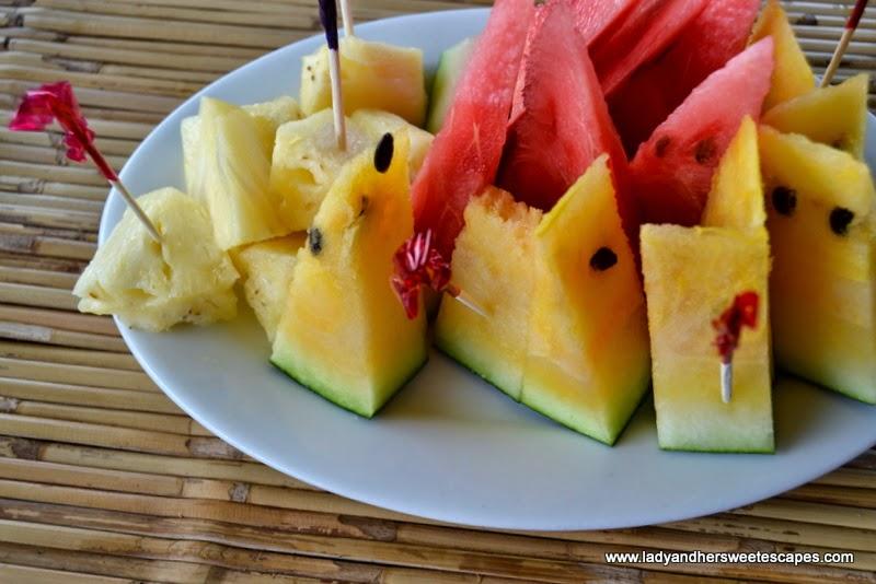Badjao Seafront's fruit slices