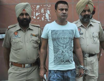 Convict Khushwinder Singh in custody. tribune photo
