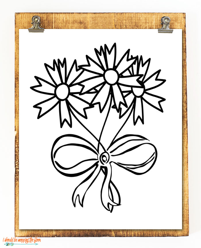 Flower Coloring Printable