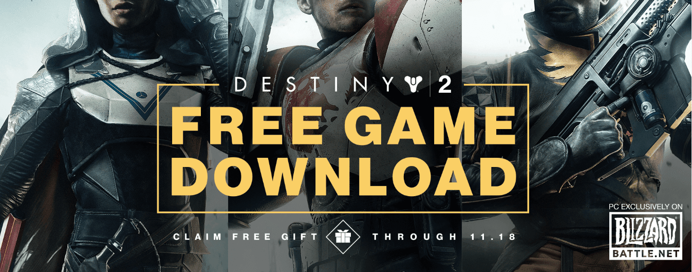 Destiny 2 Is Totally Free On PC Until November 18
