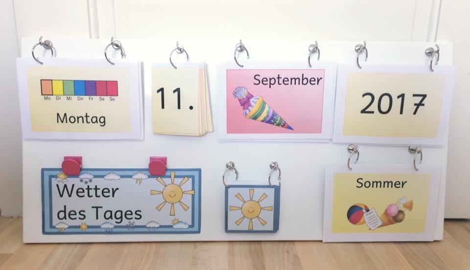 Mobiler flexibler Kalender grundschulteacher