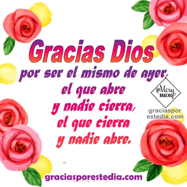 Frases con imágenes de acción de gracias, oración de gracias a Dios, frases de agradecimiento al Señor con imágenes cristianas por Mery Bracho.
