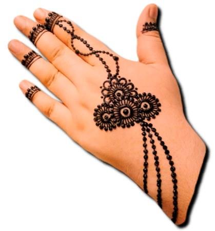 Best Back Hand Jewellery Henna Design