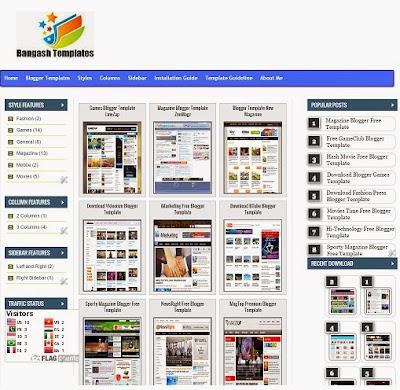 Download Blogger Bangash Templates