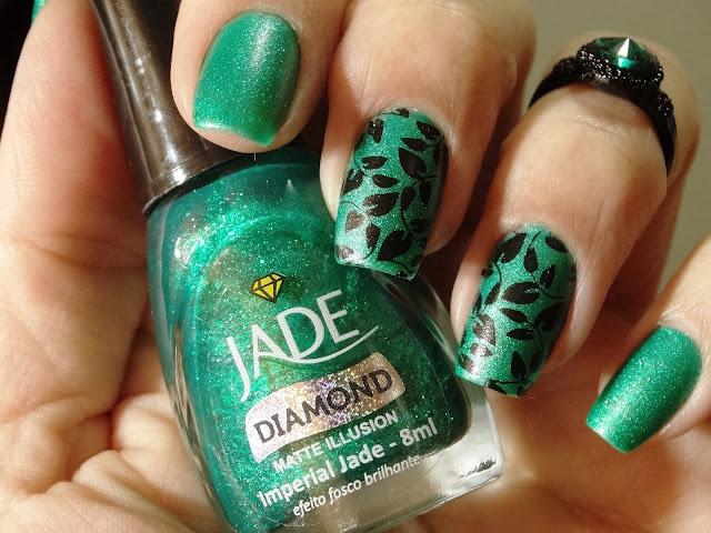 Esmalte Jade Imperial Jade + Carimbada BC 13