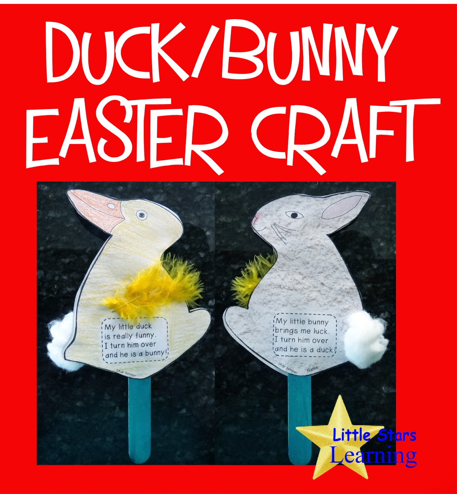 Little Stars Learning Duck Bunny Easter Preschool