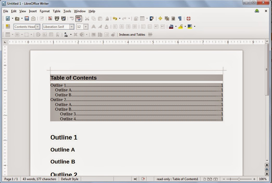 Technology For Teachers Creating Table Of Contents In