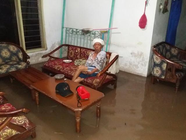 Salah satu rumah warga yang terdampak banjir Paseban