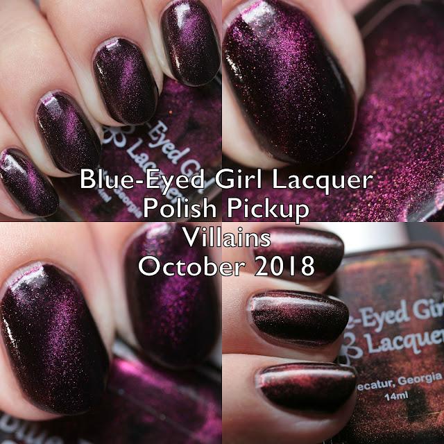 Blue-Eyed Girl Lacquer Polish Pickup Villains October 2018