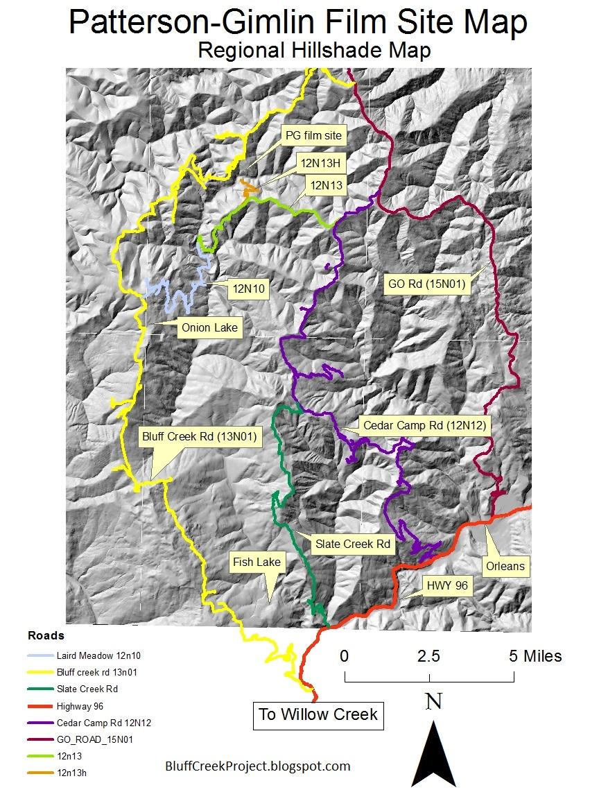 Bluff Creek California Map | antioxidansmeres