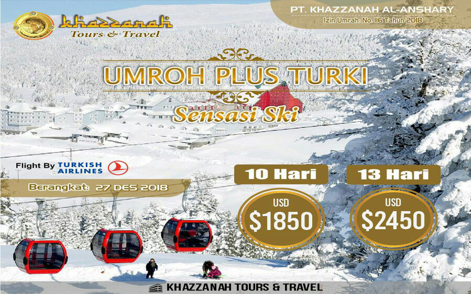 Umroh Khazzanah Tour Sensansi Turki