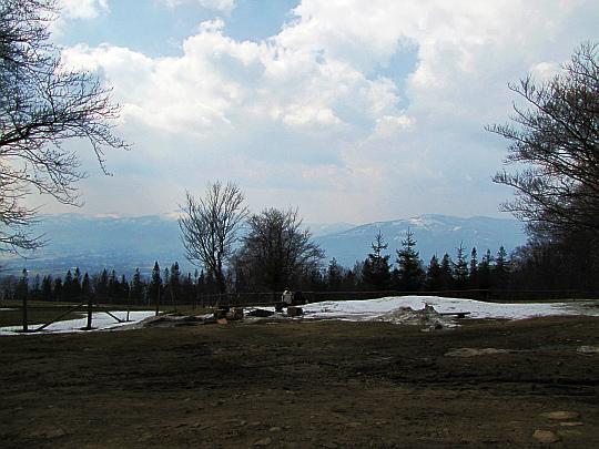 Widok na południe ze stoku Magurki Wilkowickiej.