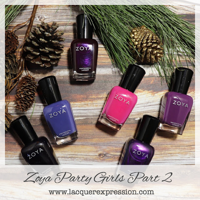 Nail polish swatch and review of the Zoya  Winter 2017 Party Girls collection