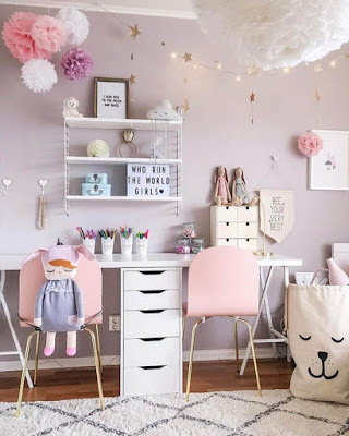 decoracion de cuarto rosa tumblr juvenil
