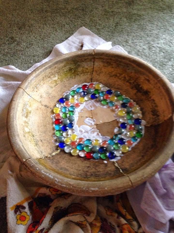 Brie S Diy Amp Crafts Aquarium Stone Recycled Dvd Mosaic
