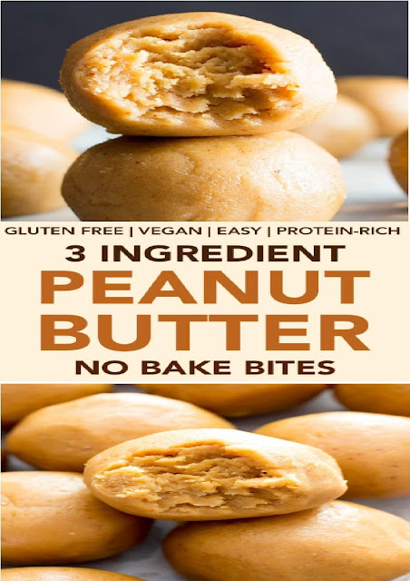 3 Ingredient Peanut Butter No Bake Energy Bites Recipe (Gluten-Free, Vegan, Protein-Packed)