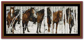 """Snow Horses"" Witchykitt Designs"