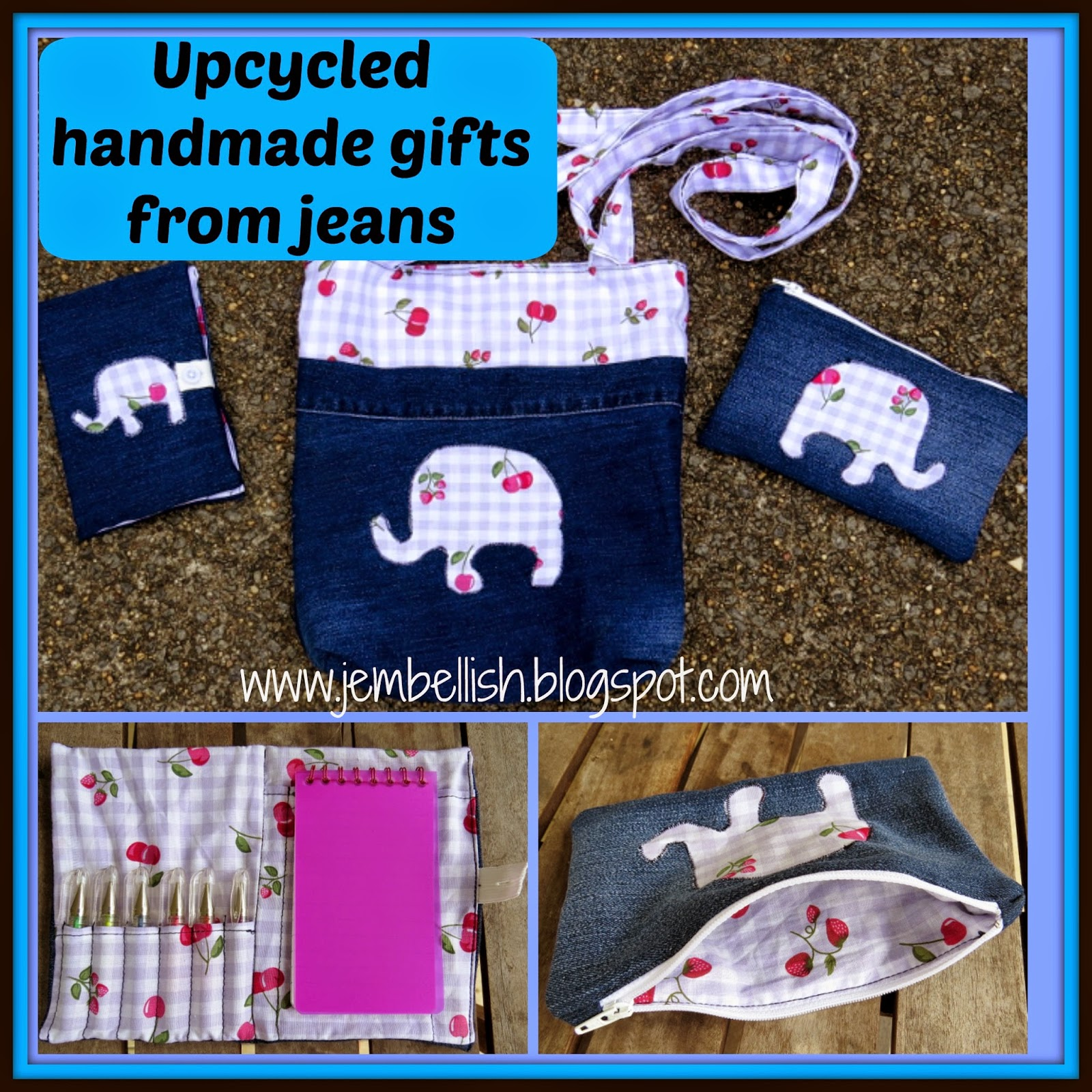 Creating My Way To Success Handmade Birthday Gifts From Upcycled Jeans