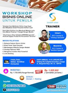 Workshop Bisnis Online Untuk Pemula