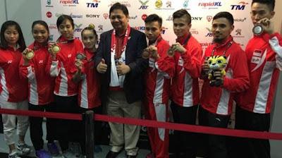 Atlet wushu Indonesia raih tiga medali Emas Sea games 2017