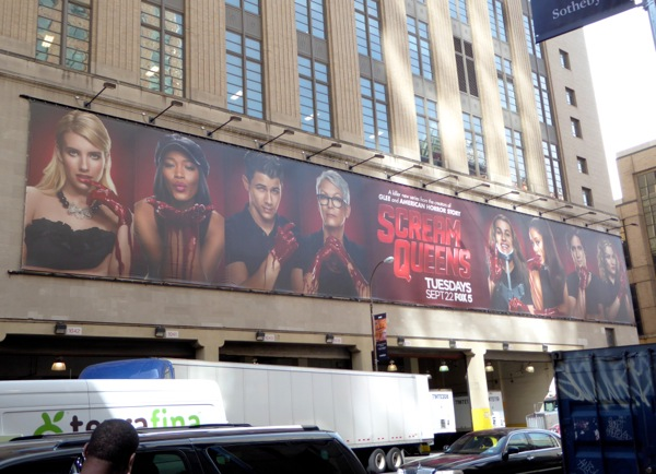 Scream Queens series launch billboard NYC