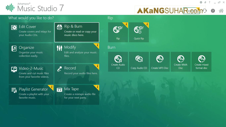 Free download Ashampoo Music Studio Final Latest Full Version Terbaru gratis serial number, crack, keygen, patch, license key, code activation, 2017 multilanguage www.akangsuhar.com