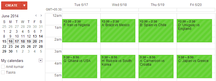 Add 2014 FIFA World Cup Schedule to Your Google Calendar